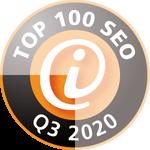 Auszeichnung Top 100 SEO 2020 Quartal 3