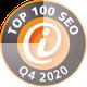 Auszeichnung 3S+Webdesign zu TOP 100 SEO Dienstleister Quartal 4 2020