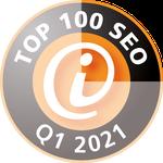 Auszeichnung Top 100 SEO 2021 Quartal 1