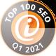 Auszeichnung 3S+Webdesign zu TOP 100 SEO Dienstleister Quartal 1 2021